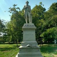 Photo taken at Alexander Hamilton Statue by Mariana B. on 8/4/2016