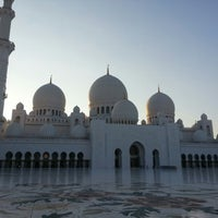 Photo taken at Sheikh Zayed Grand Mosque by Randa M. on 12/1/2012