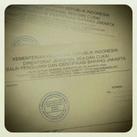 Photo taken at Balai Pengujian dan Identifikasi Barang, Direktorat Jenderal Bea dan cukai Jakarta by Herwin J. on 7/18/2013