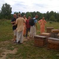 Photo taken at Ферма Новая Враджамандала by Sasha H. on 6/21/2013