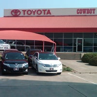 Photo taken at Cowboy Toyota by Jessica W. on 10/29/2012