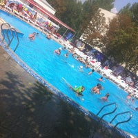 "Photo taken at Аквапарк ""Акватория"" by Elena K. on 8/7/2013"