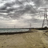 Photo taken at Yas Island Beach by Ahmed A. on 4/27/2013