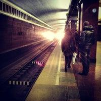 Photo taken at Станция метро «Проспект Победы» by Arthur T. on 11/23/2012