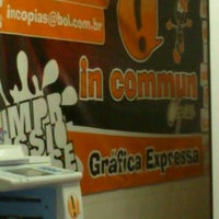 Photo taken at In Commun Cópias by Emanuelle F. on 11/14/2012