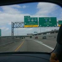 Photo taken at I-75 & Ambassador Bridge by Anita L. W. on 4/7/2013