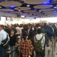 Photo taken at Security/Passport Control - T4 by Kaléu S. on 11/29/2012