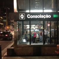 Photo taken at Consolação Station (Metrô) by Lucas E. on 10/31/2012