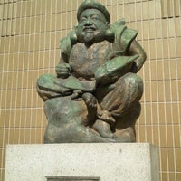 Photo taken at Ebisu Statue by Tomomi K. on 4/29/2013