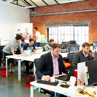 Photo taken at Betacowork by Betacowork Coworking Brussels on 8/18/2014
