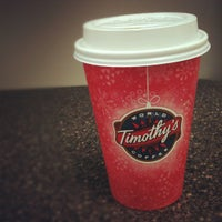 Photo taken at Timothy's World Coffee by Ryan M. on 11/14/2012
