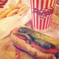 Photo taken at Portillo's Hot Dogs by Olga V. on 1/21/2013