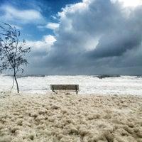 Photo taken at Mooloolaba Beach by Kathleen F. on 1/27/2013