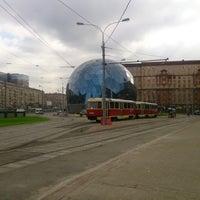 Photo taken at Трамвайная остановка «Метро «Сокол» by Илья И. on 9/12/2013