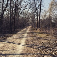 Photo taken at Illinois Prairie Path Crossing by Kennan d. on 4/5/2015