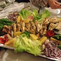 Photo taken at Cunda Balık Restaurant by SEVGI Y. on 3/16/2013