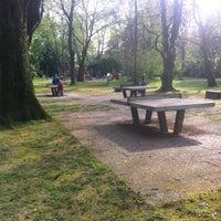 Photo taken at Tischtennisplatte im Stadtpark by Florian F. on 4/12/2014