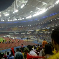 Photo taken at Stadium Nasional Bukit Jalil by Mang A. on 12/9/2012