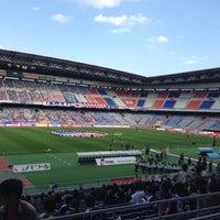 Photo taken at Nissan Stadium by Hito M. on 10/20/2012