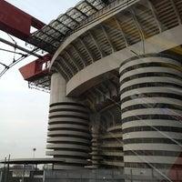 "Photo taken at Stadio San Siro ""Giuseppe Meazza"" by Денис С. on 4/6/2013"
