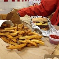 Photo taken at Five Guys by Caroline K. on 1/31/2014