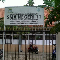 Photo taken at SMA Negeri 11 Bandung by Taufik Rizki S. on 11/13/2012