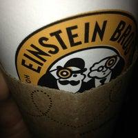 Photo taken at Einstein Bros Bagels by Lupe P. on 2/8/2013