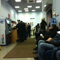 Photo taken at ВТБ24 by Диана К. on 12/27/2012