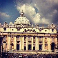 Photo taken at Saint Peter's Square by ❤Julianna S. on 7/20/2013