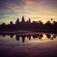 Photo taken at Angkor Wat by Sebastian P. on 12/1/2012