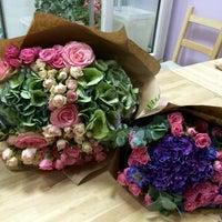 Photo taken at JASMIN Flower Studio by Olga S. on 10/12/2015