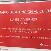 Photo taken at Banco Santander by Leo N. on 6/29/2016