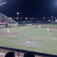 Photo taken at Estadio Nelson Barrera Romellón by Katya K- Rod S. on 4/8/2013