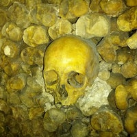 Photo taken at Catacombs of Paris by Luis P. on 2/28/2013