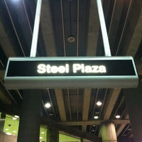 Photo taken at Port Authority Steel Plaza Station by Heather N. on 8/4/2013