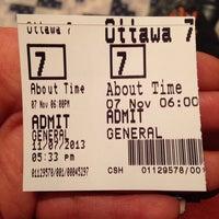 Photo taken at Landmark Cinemas 7 Ottawa by Myss U. on 11/7/2013