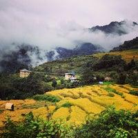 Photo taken at Punakha by Lesley L. on 10/26/2013