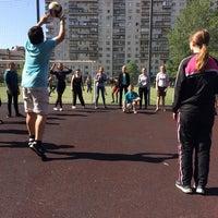 Photo taken at Школа № 348 by Катерина К. on 5/22/2014