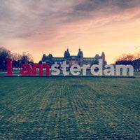 Photo taken at Museumplein by Emily S. on 4/15/2013