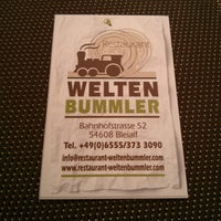 Photo taken at Restaurant Weltenbummler by K-J T. on 4/14/2013