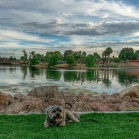Photo taken at Lorenzi Park by kat S. on 7/6/2014