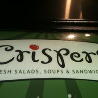 Photo taken at Crispers Fresh Salads, Soups and Sandwiches by Tom P. on 4/13/2013