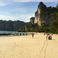 Photo taken at Railay Beach West by Jussi R. on 1/14/2013