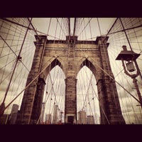 Photo taken at Brooklyn Bridge by Angel M. on 5/24/2013