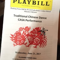 Photo taken at Flushing Town Hall by Leo C. on 6/21/2017