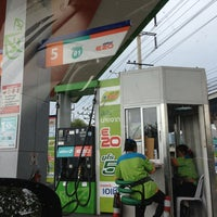 Photo taken at Bangchak Gas Station by Ty W. on 6/4/2013