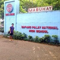 Photo taken at Sapang Palay National High School by Ert M. on 11/30/2013