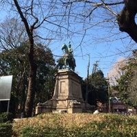 Photo taken at 小松宮彰仁親王銅像 by Akira H. on 1/22/2014