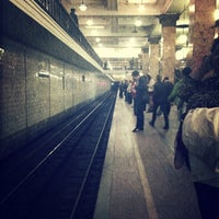 Photo taken at metro Sokolniki by Кеша . on 4/19/2013