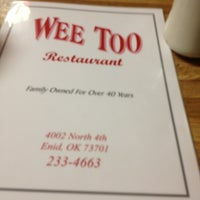 Photo taken at Wee Too Restaurant by Jacob F. on 4/27/2013